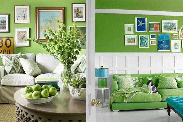 color greenery en las paredes