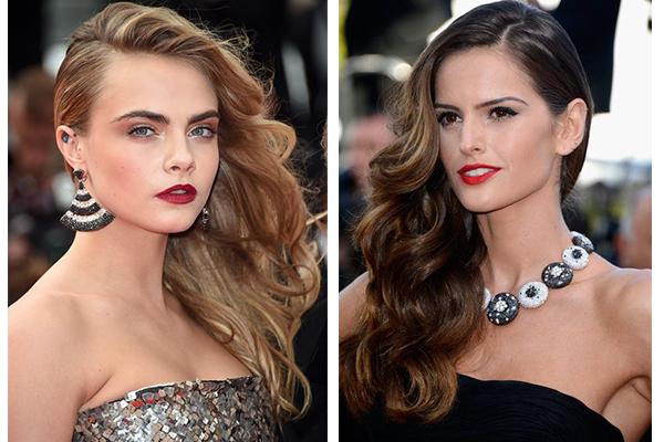 Maquillaje y peinados de navidad: recogido a un lado