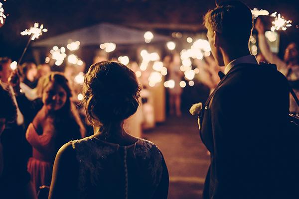 anillos para boda de noche