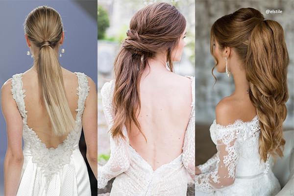 peinados novia coleta