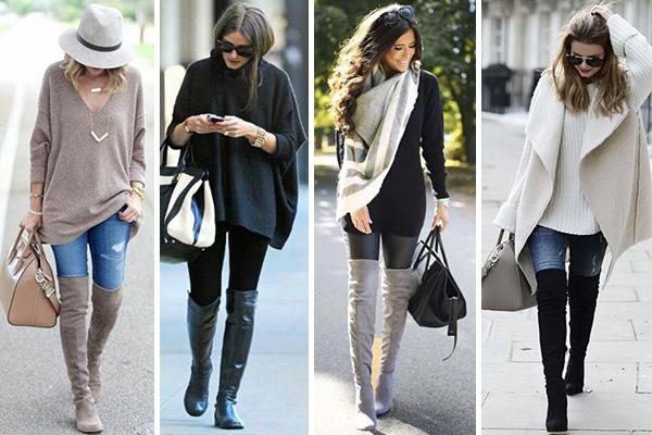Cómo combinar botas altas thigh high con jeans