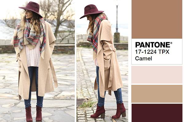Combinar el color camel según pantone