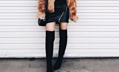 Cómo combinar las botas altas thigh high