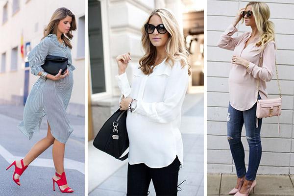 moda premamá 2017: Camisas