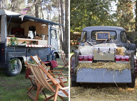 bodas en el campo con foodtruck