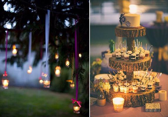 bodas en el campo luces