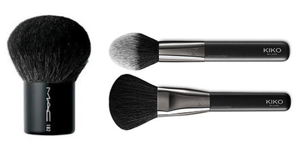 brochas para maquillaje en polvos