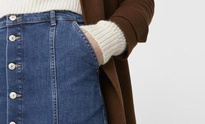 combinar falda con botones