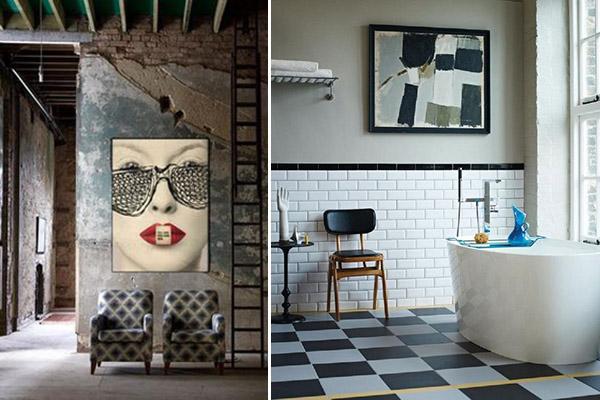 decoración estilo nueva york en los cuadros