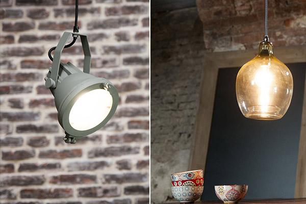 decoración estilo nueva york para las lámparas