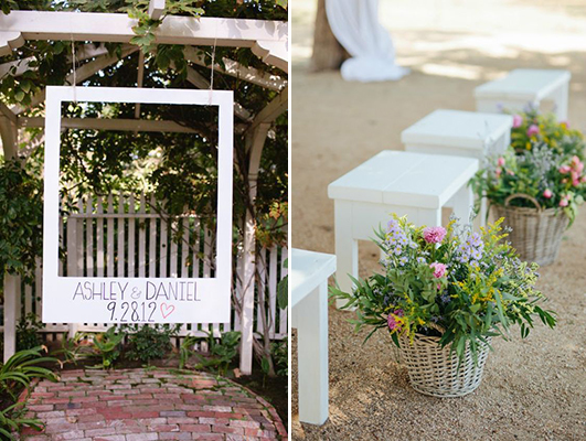 decoración para boda en el campo