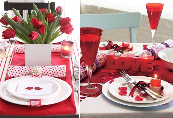 decoracion san valentin para la mesa