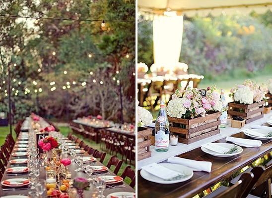 mesas para una boda en el campo