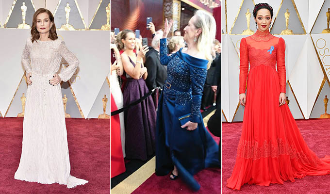 vestidos alfombra roja de los oscar 2017