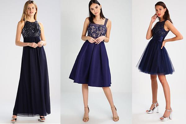 cómo combinar el azul en vestidos