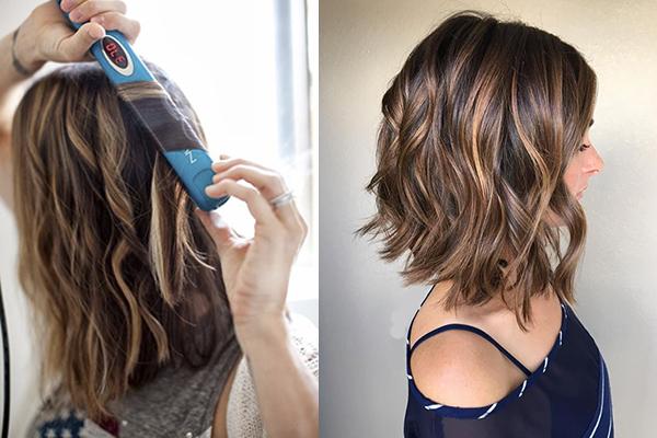 cómo hacer ondas con rizador de pelo tutorial