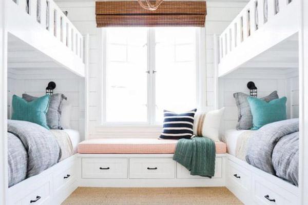 ideas de decoración para habitación de invitados con literas