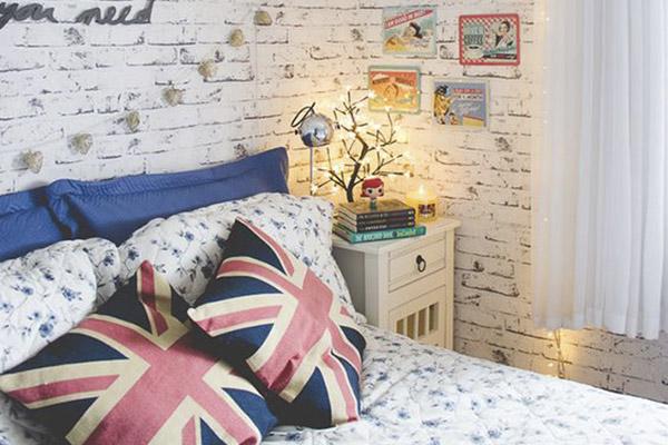 ideas de decoración para habitación de invitados con papel pintado
