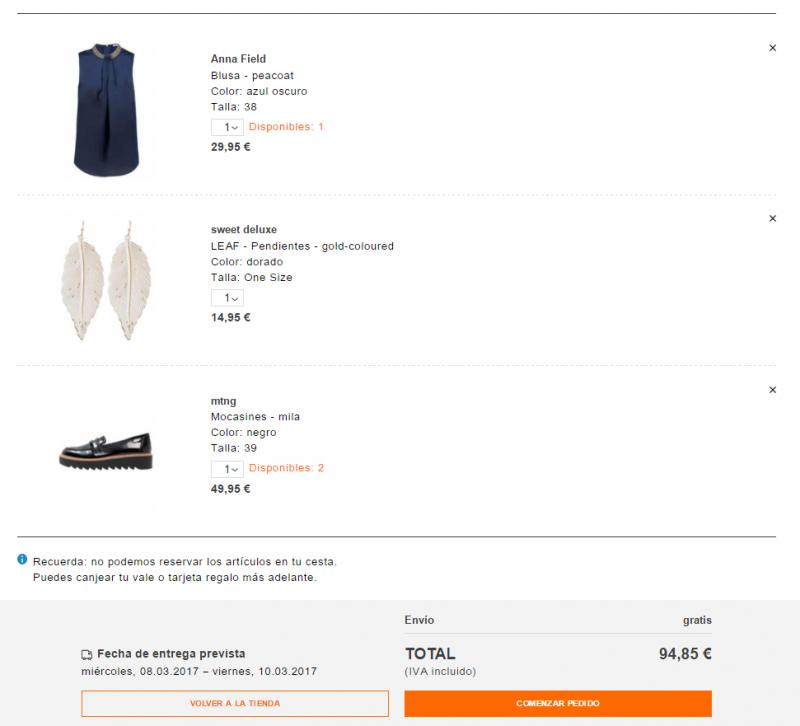 comprar ropa en Zalando