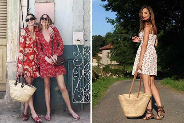 cómo combinar vestidos de flores en verano