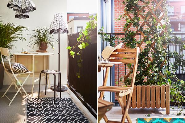 ideas para decorar el balcón con plantas