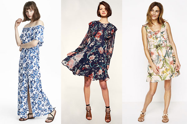 vestidos primavera verano con flores