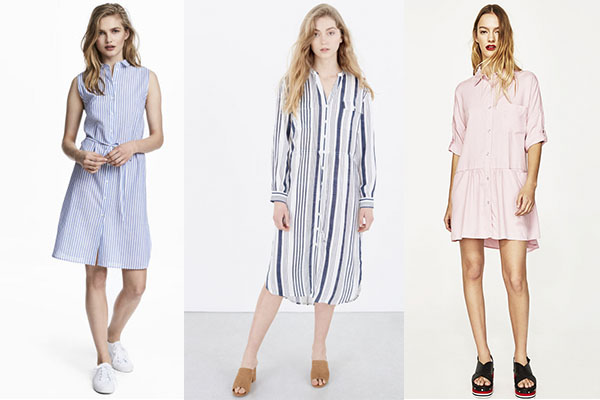 vestidos primavera verano tipo camisa