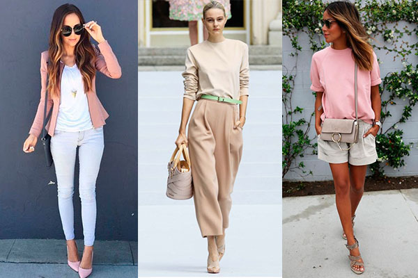 combinar colores pastel en la ropa