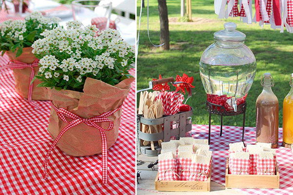 ideas para decorar una barbacoa y un picnic