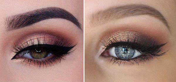 maquillaje ojos cobre