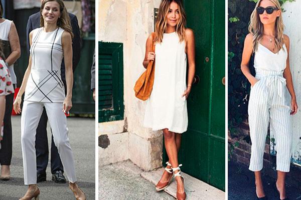 cómo combinar el color blanco en la ropa