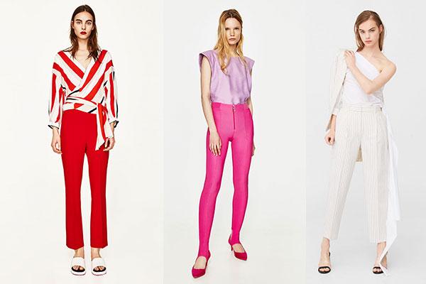cómo combinar pantalones en verano colores