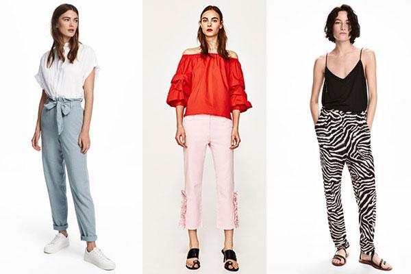 cómo combinar pantalones en verano