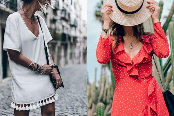 cómo combinar vestidos