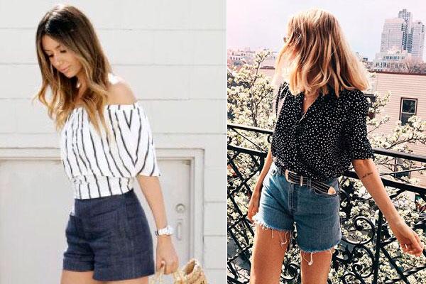 cómo combinar un look con shorts