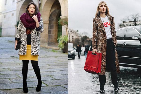 abrigos con estampado de leopardo