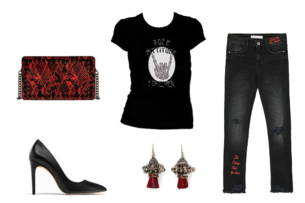 looks con camisetas rockeras