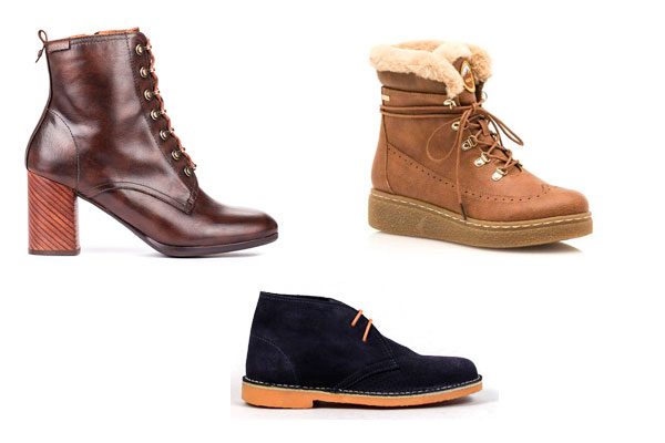 botas y botines otoño invierno cordones