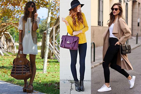 cómo combinar ropa y complementos bolso