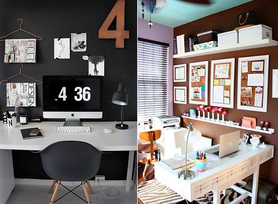 colores decoración espacio de trabajo en casa