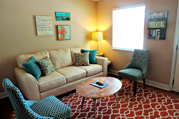 decorar un piso con colores