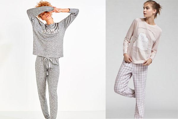 prendas con mensaje y pijamas