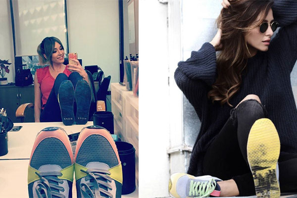 celebrities con tendencia de sneakers