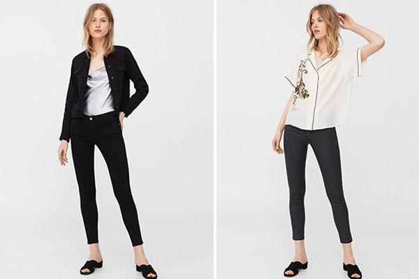 cómo combinar pantalones vaqueros negros