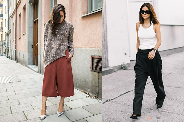 cómo combinar prendas oversize pantalones
