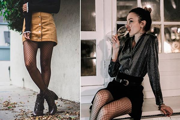 combinar medidas de rejilla con minifalda