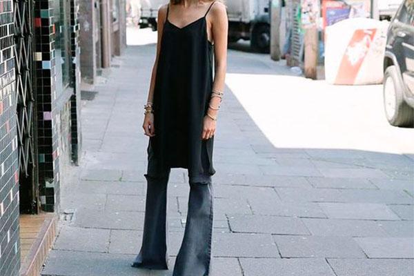 vestido con pantalones
