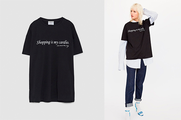 camisetas de zara sex and the city