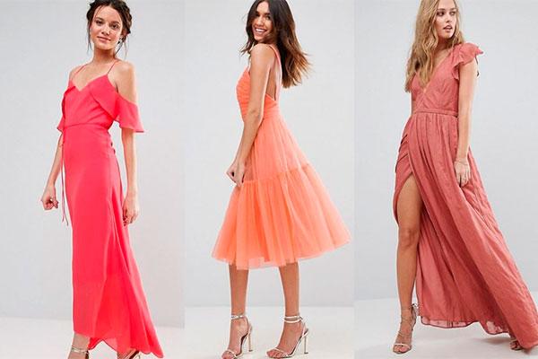 Complementos para vestido de fiesta coral