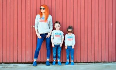 ropa igual para padres y madres